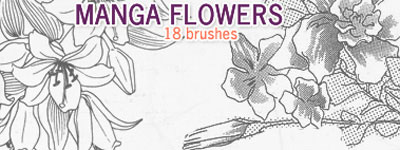 Скачать Manga Flowers By Crazykira Resources