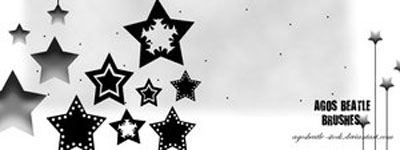 Скачать Brushes  Falling Stars By Agosbeatle Stock