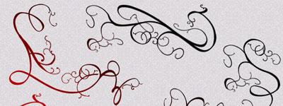 Скачать Ornamental Swirls Brushes By Dracovina Stock