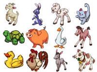Скачать 23 набора иконок с изображениями различных зверюшек