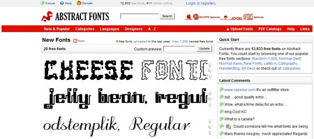 Перейти наAbstract Fonts