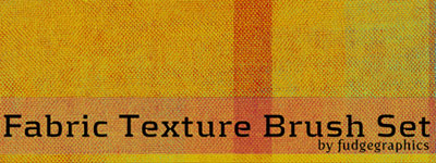 Скачать Fabric Texture Brush Set By Fudgegraphics