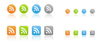 Скачать Free web 2.0 RSS icons