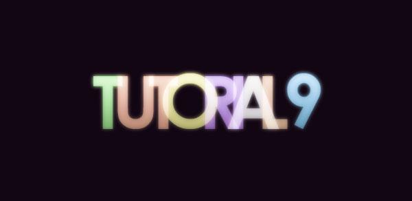 Создаем в фотошопе эффект легкого цветного свечения для текста