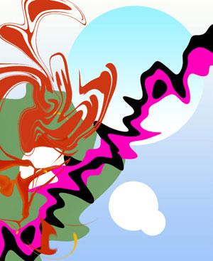 Создаем картинку в векторном абстрактном стиле используя инструмент Пластика
