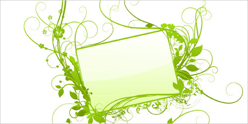 Цветочный орнамент, вензеля