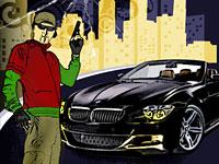 Создаем эффектный постер с изображением стрелка, летящей пули и автомобиля