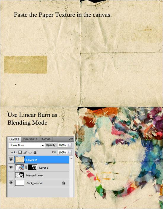 Создаем в фотошопе стильный акварельный портрет Джима Моррисона