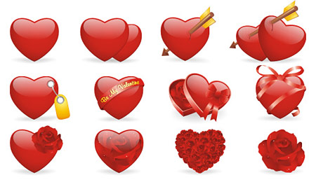 Скачать Valentine Love Icon Set