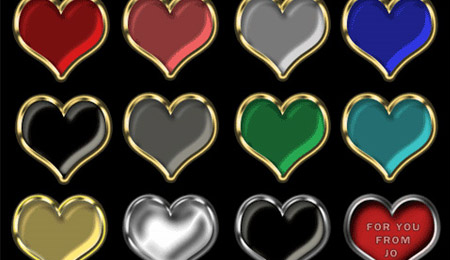 Скачать 12 Heart PNG Buttons