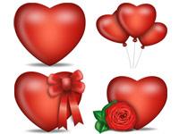 Скачать 17 наборов иконок с изображениями сердечек ко дню всех влюбленных