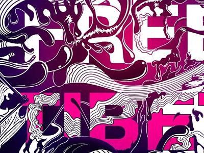 Free Tibet  Typography