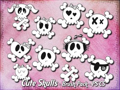 Скачать Cute Skulls