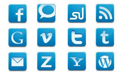 Скачать Social Media Network icons (30 штук)