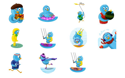 Скачать Seasons Tweeting icons (24 штуки)