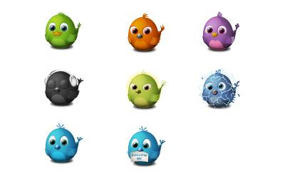 Скачать Birdies icons (8 штук)