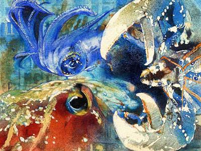 Кудрявцева Надежда. Трапеза омара