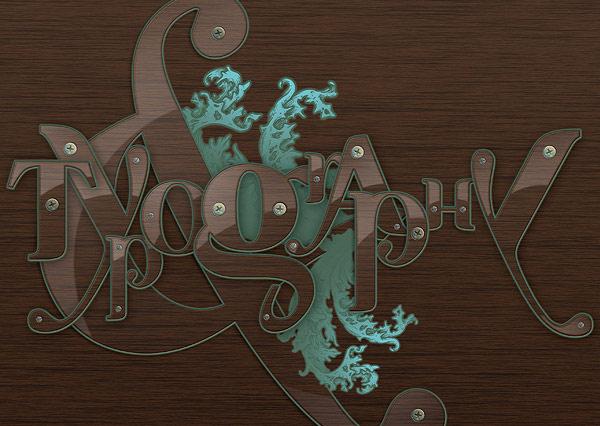 Создаем в фотошопе декоративный текст с вплетенным в него насыщенным орнаментом