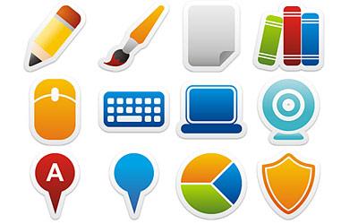 Скачать Colorful Stickers Part 6 Icon Set