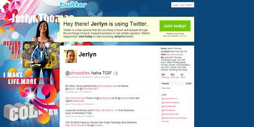 Перейти на @jerlyn