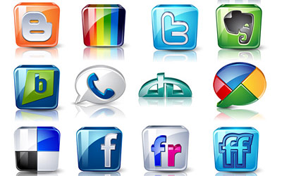 Скачать High detail social icons