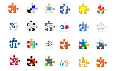 Скачать Puzzle Social Network Icons