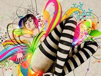 Замечательный цветной креатив от Tony Ariawan, дизайнера из Индонезии