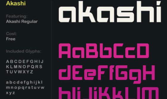 Скачать Akashi font