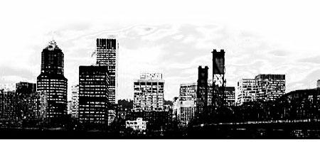 Скачать Кисти Силуэты города 13