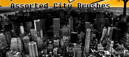 Скачать Кисти Силуэты города 20
