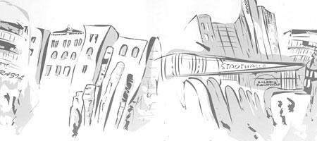 Скачать Кисти Силуэты города 26