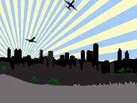 Скачать 26 наборов кистей c изображением города и городских силуэтов