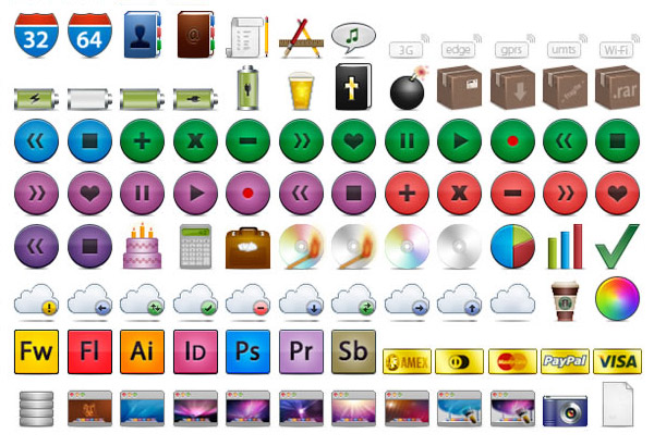 Скачать Ultimate Web Designer's Icon Set