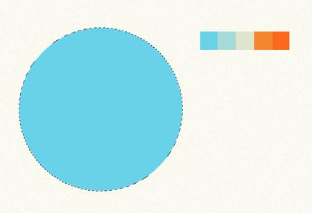 Создаем абстрактную композицию из цветных текстурных окружностей