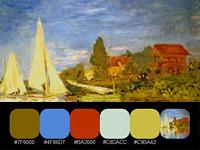 20 готовых цветовых палитр, взятых с полотен импрессиониста Клода Моне