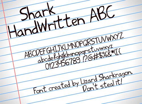 Shark HandWritten ABC