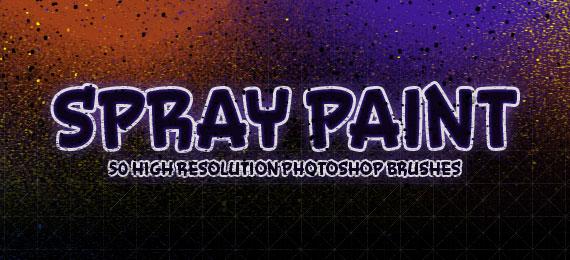 Скачать Spray Paint: 50 Photoshop Brushes