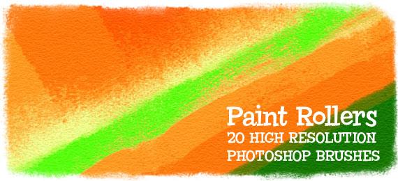 Скачать Paint Rollers: 20 Photoshop Brushes