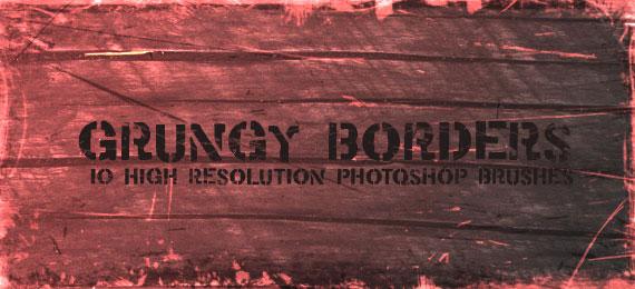 Скачать Grungy Borders: 10 Photoshop Brushes