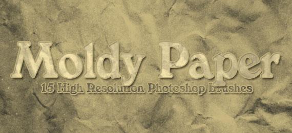 Скачать 15 Moldy Paper Photoshop Brushes