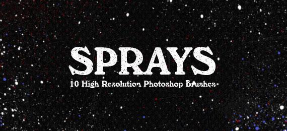 Скачать Sprays: 10 Photoshop Brushes