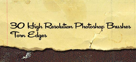 Скачать Torn Paper Edges: 38 Photoshop Brushes