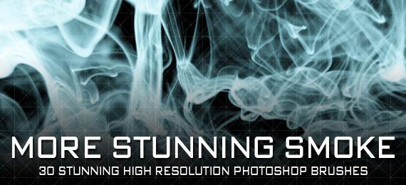 Скачать More Stunning Smoke: 30 Photoshop Brushes