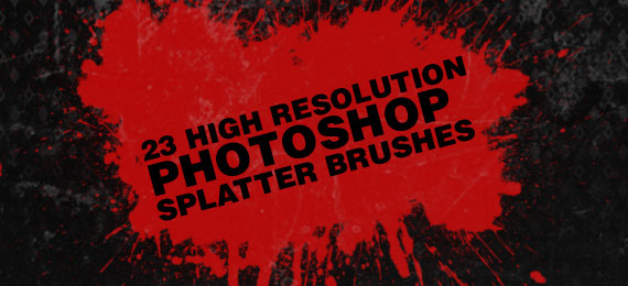 Скачать 23 Photoshop Splatter Brushes