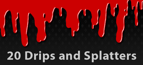 Скачать 20 Drip and Splatter Brushes for Photoshop