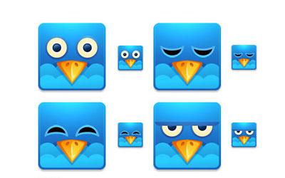 Скачать Twitter Square Icons