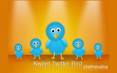Скачать Kweet- A Free Twitter Bird Icon