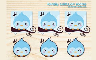 Скачать Lovely Twitter Icons