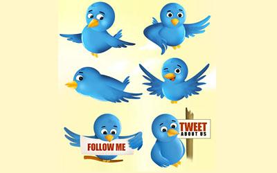 Скачать Free Twitter Bird Icon Set