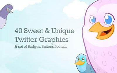 Скачать 40 Cute Free Twitter Graphics